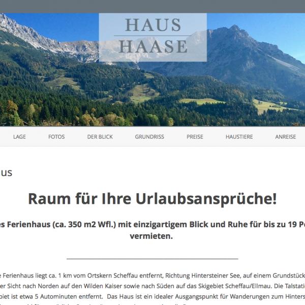 Vermietung – Haus Haase Scheffau